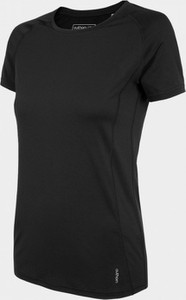 Czarny t-shirt Outhorn z okrągłym dekoltem