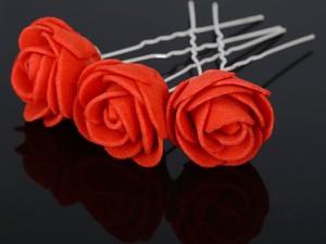 IZMAEL.eu Spinka do włosów Roses - Czerwony