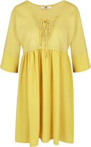 Sukienka Twinset z długim rękawem z dekoltem w kształcie litery v