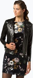 Brązowa kurtka Armani Jeans krótka w rockowym stylu
