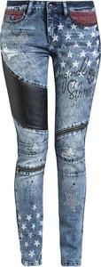 Niebieskie jeansy Rock Rebel by EMP