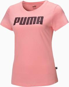 T-shirt Puma z okrągłym dekoltem z dżerseju z krótkim rękawem