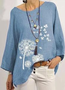 Niebieska bluzka Sandbella z długim rękawem