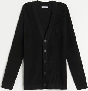 Czarny sweter Reserved z wełny w stylu casual