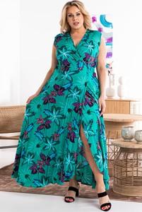 Sukienka KARKO z dekoltem w kształcie litery v maxi