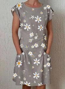 Sukienka Cikelly mini z okrągłym dekoltem