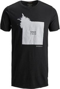 Czarny t-shirt Jack & Jones z krótkim rękawem