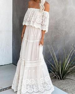 Sukienka Kendallme z długim rękawem z szyfonu hiszpanka