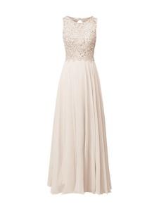 Sukienka Unique w stylu glamour maxi z szyfonu