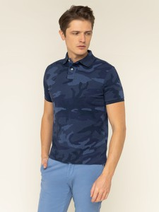 Granatowa koszulka polo POLO RALPH LAUREN z krótkim rękawem