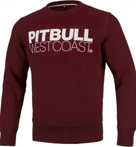 Czerwona bluza Pit Bull West Coast w młodzieżowym stylu z bawełny