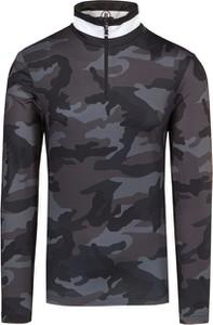 Czarna bluza Bogner w militarnym stylu