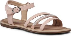 Różowe buty dziecięce letnie Nelli Blu dla dziewczynek z klamrami