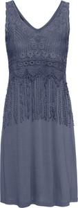Niebieska sukienka bonprix BODYFLIRT bez rękawów w stylu boho