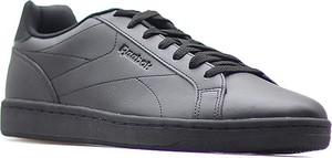 Granatowe buty sportowe Reebok ze skóry ekologicznej
