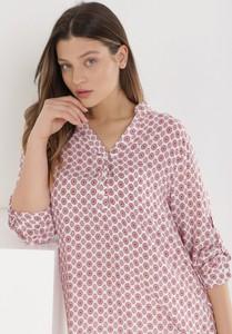 Różowa bluzka born2be z długim rękawem