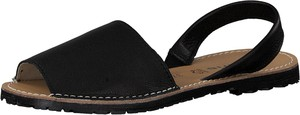 Czarne sandały Tamaris z płaską podeszwą w stylu casual ze skóry