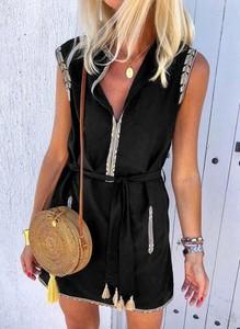 Sukienka Sandbella mini szmizjerka