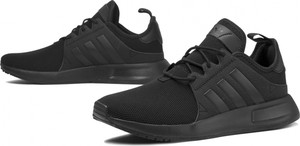 Czarne buty sportowe Adidas z płaską podeszwą w sportowym stylu