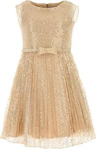Złota sukienka dziewczęca Monnalisa