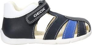 Czarne buty dziecięce letnie Geox dla chłopców