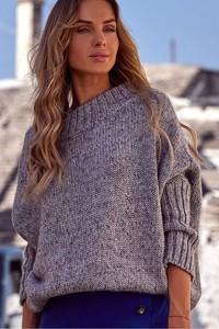 Fioletowy sweter MOE