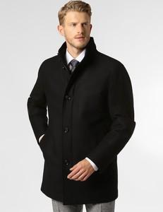 Czarny płaszcz męski Boss