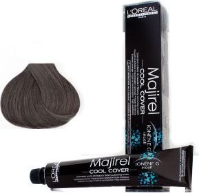 L'Oreal Paris Loreal Majirel Cool Cover | Trwała farba do włosów o chłodnych odcieniach - kolor 7.17 metaliczny blond 50ml - Wysyłka w 24H!