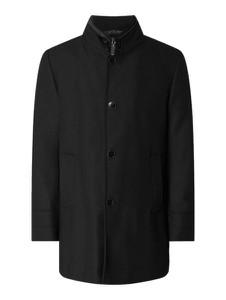 Czarny płaszcz męski Carl Gross z wełny