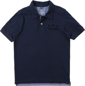 Granatowa koszulka dziecięca Jack & Jones Junior z dżerseju