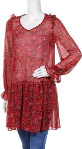 Bluzka Naf naf z okrągłym dekoltem w stylu casual z długim rękawem