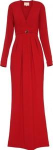 Czerwona sukienka Yuliya Babich z długim rękawem