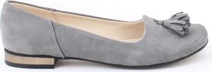Zapato balerinki - skóra naturalna - model 009 - kolor grafit