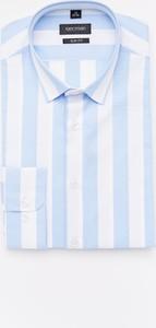 Koszula Recman z bawełny z długim rękawem z kołnierzykiem button down