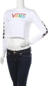 Bluzka Vans z okrągłym dekoltem z długim rękawem