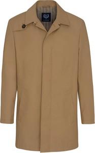 Brązowy płaszcz męski Lavard z tkaniny