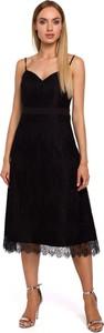 Sukienka MOE z tkaniny midi
