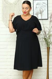 Sukienka KARKO z długim rękawem dla puszystych w stylu casual