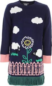 Turkusowa sukienka dziewczęca Stella McCartney z bawełny