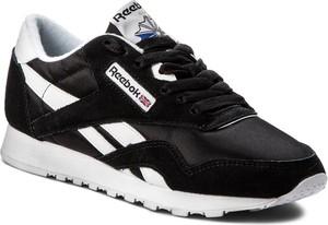 Czarne buty sportowe reebok w sportowym stylu sznurowane