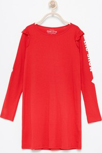 Czerwona sukienka dziewczęca Reserved z bawełny