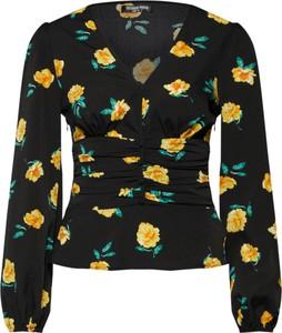 Czarna bluzka Fashion Union z dekoltem w kształcie litery v