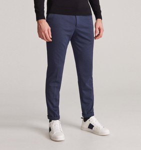 Niebieskie spodnie Reserved z dzianiny