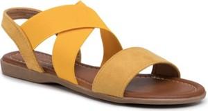 Żółte sandały Jenny Fairy w stylu casual