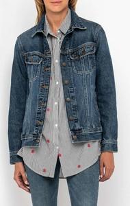 Niebieska kurtka Lee krótka z jeansu