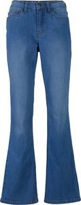 Niebieskie jeansy bonprix w stylu casual z bawełny
