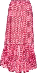 Różowa spódnica bonprix bpc selection z szyfonu