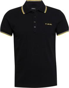Czarna koszulka polo Diesel w stylu casual z dżerseju