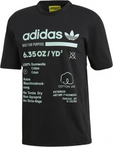 Czarny t-shirt Adidas z bawełny