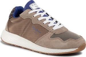 Sneakersy Pepe Jeans na platformie sznurowane